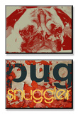 Pug Snuggler Posters by Mj Lew
