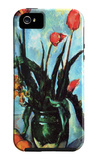Still Life, Vase with Tulips iPhone 5 Case by Paul Cezanne