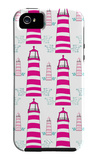 Pink Light House Pattern iPhone 5 Case by  Avalisa