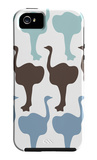 Blue Ostrich Family iPhone 5 Case by  Avalisa