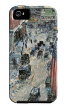 Flags on Fifth Avenue, Winter 1918 iPhone 5 Case by Childe Hassam