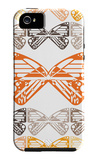 Orange Butterfly Patch iPhone 5 Case by  Avalisa