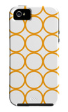 Orange Circles iPhone 5 Case by  Avalisa