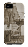 Black and White Wine Series I iPhone 5 Case by Jennifer Goldberger