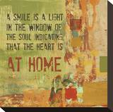 A Smile is a Light in the Window of the Soul Stretched Canvas Print by Irena Orlov