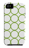 Green Circles iPhone 5 Case por Avalisa