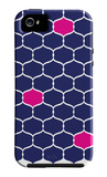 Navy Pink Trellis iPhone 5 Case by  Avalisa