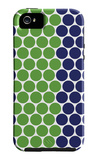 Blue Green Dots iPhone 5 Case by  Avalisa