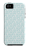 Aqua Hope iPhone 5 Case by  Avalisa