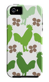 Green Chicken Family iPhone 5 Case by  Avalisa