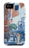Flags, Fifth Avenue iPhone 5 Case por Frederick Childe Hassam