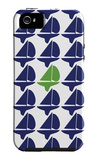 Navy Green Regatta iPhone 5 Case by  Avalisa