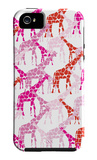 Pink Giraffe Pattern iPhone 5 Case by  Avalisa