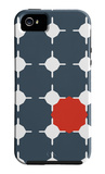 Blue Red Cut-out iPhone 5 Case by  Avalisa