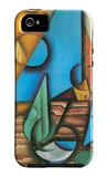Bottle and Glass on a Table iPhone 5 Case by Juan Gris