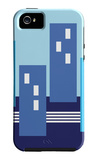 Blue Buildings iPhone 5 Case by  Avalisa