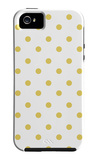Yellow Polk-a-dots iPhone 5 Case by  Avalisa