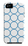 Blue Circles iPhone 5 Case by  Avalisa