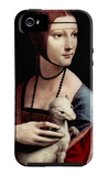 Portrait of a Lady with Ermine iPhone 5 Case by  Leonardo da Vinci