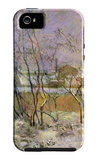 Snow in Rue Carcel iPhone 5 Case by Paul Gauguin