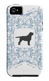 Blue Lab Frame iPhone 5 Case par  Avalisa