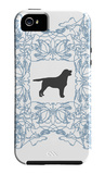 Blue Lab Frame iPhone 5 Case by  Avalisa