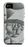 Head of a Man with Cigar iPhone 5 Case by Juan Gris