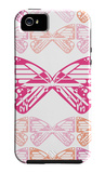 Pink Butterfly Patch iPhone 5 Case by Avalisa