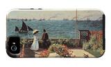 Terrazza sul mare a Sainte-Adresse Custodia iPhone 5 di Claude Monet