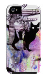 Super Cat iPhone 5 Case por Lora Zombie