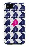 Navy Pink Regatta iPhone 5 Case by  Avalisa