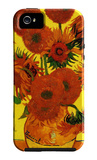 Still Life Vase with Fifteen Sunflowers Custodia iPhone 5 di Vincent van Gogh