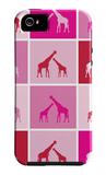 Pink Giraffe Squares iPhone 5 Case by  Avalisa