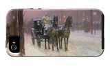 Street Scene with Two Cabs iPhone 5 Case by Childe Hassam