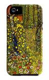 Garden with Crucifix iPhone 5-hoesje van Gustav Klimt