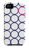 Navy Pink Circles iPhone 5 Case by  Avalisa