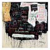 Museumssikkerhed, Nedsmeltning på Broadway, 1983 Giclée-tryk af Jean-Michel Basquiat