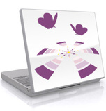 The Flower With Butterflies-Laptop Sticker Klistermrker til brbar computer