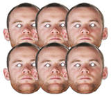 Rooney 6pk-Face Masks Novelty
