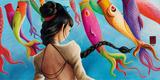 Koi-Nobori Affiche par  Misstigri