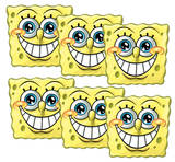Sponge Bob Square Pants 6pk-Face Masks Novelty