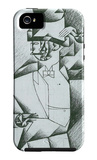 Man in Cafe iPhone 5 Case por Juan Gris
