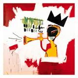 Jean-Michel Basquiat - Trumpeta, 1984 Digitálně vytištěná reprodukce