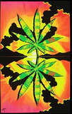 Maui Waui Pot Leaf Marijuana Blacklight Reactive Poster Print