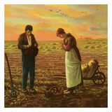 The Angelus Art by Jean-Fran&#231;ois Millet