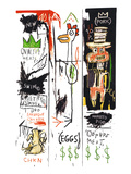 Quality Meats for the Public, 1982 Impression giclée par Jean-Michel Basquiat