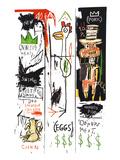 Carnes de qualidade para o público, 1982 Impressão giclée por Jean-Michel Basquiat