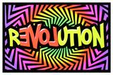 Revolution Love Flocked Blacklight Poster Poster