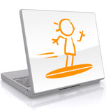 The Tribal Surfer-Laptop Sticker Laptop Stickers