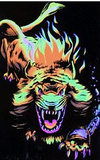 Angry Lion Flocked Blacklight Poster Prints